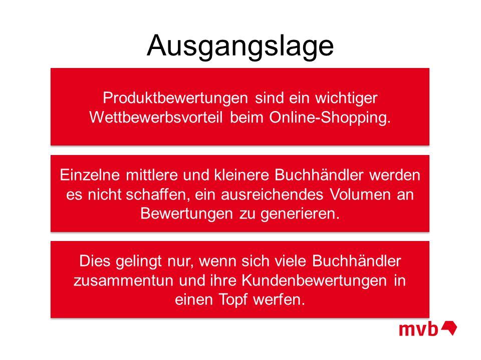 Ausgangslage Produktbewertungen sind ein wichtiger Wettbewerbsvorteil beim Online-Shopping. Einzelne mittlere und kleinere Buchhändler werden es nicht