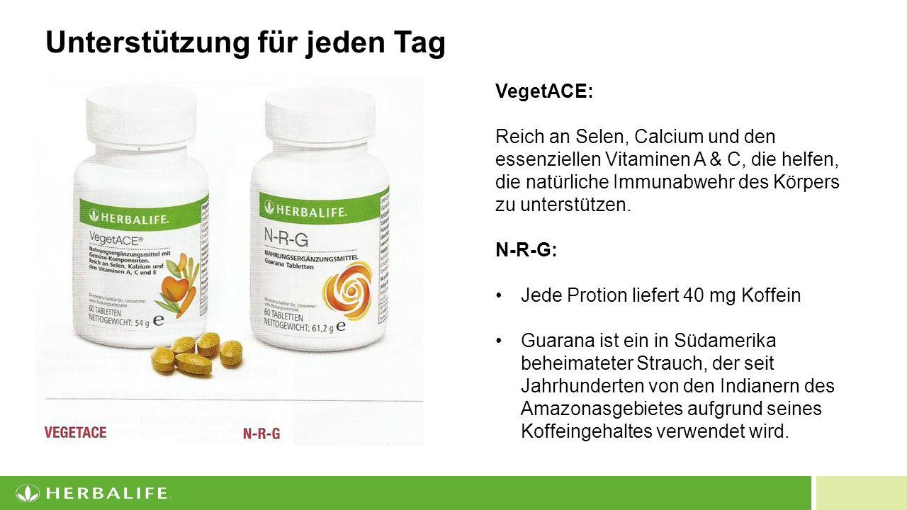 19 Unterstützung für jeden Tag VegetACE: Reich an Selen, Calcium und den essenziellen Vitaminen A & C, die helfen, die natürliche Immunabwehr des Körpers zu unterstützen.
