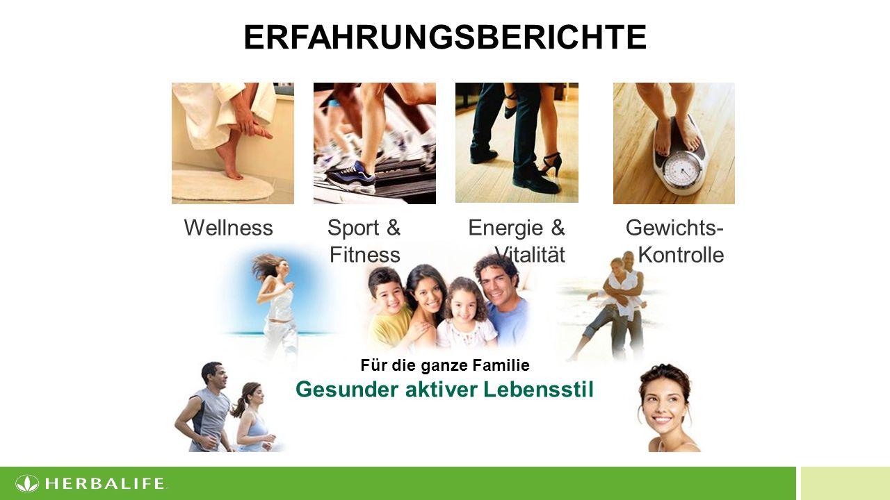 20 Sport & Fitness Gewichts- Kontrolle WellnessEnergie & Vitalität Für die ganze Familie Gesunder aktiver Lebensstil ERFAHRUNGSBERICHTE