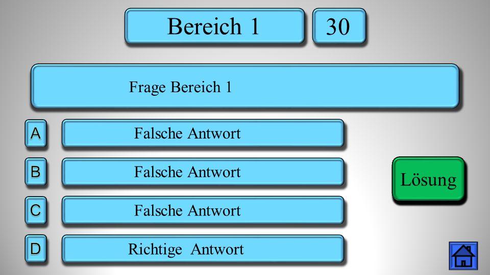 Bereich 5 40 Falsche Antwort Richtige Antwort Lösung Frage Bereich 5 Lösung