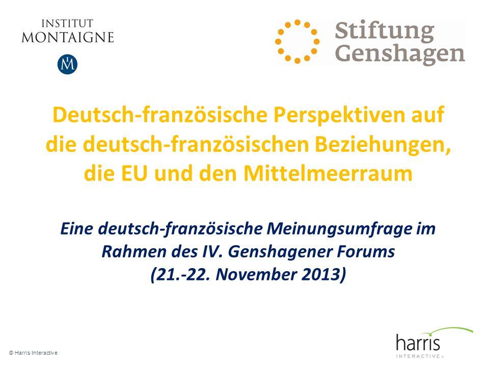Deutsch-französische Perspektiven auf die deutsch-französischen Beziehungen, die EU und den Mittelmeerraum Eine deutsch-französische Meinungsumfrage im Rahmen des IV.