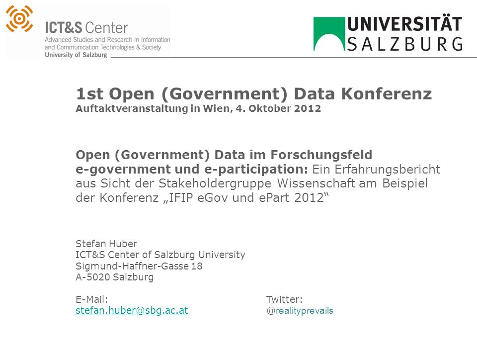 1st Open (Government) Data Konferenz Auftaktveranstaltung in Wien, 4.