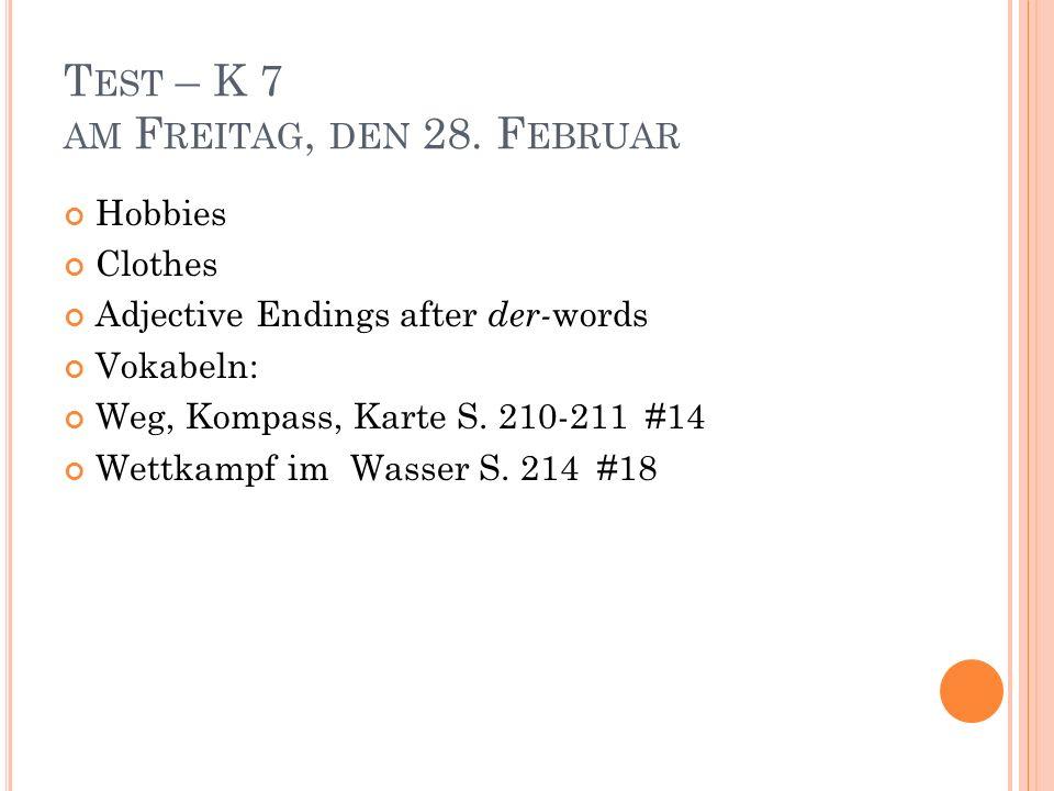 A DJECTIVE P RACTICE : A.Nominativ: 1. der schwarz___ Kaffee 7.