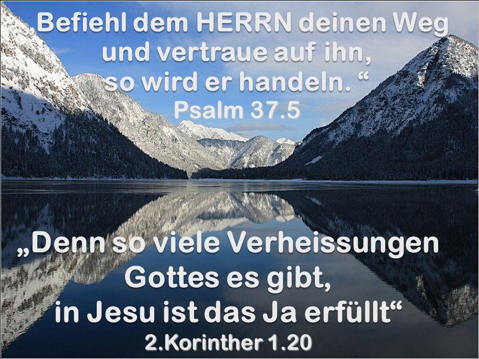 Befiehl dem HERRN deinen Weg und vertraue auf ihn, so wird er handeln. Befiehl dem HERRN deinen Weg und vertraue auf ihn, so wird er handeln. Psalm 37