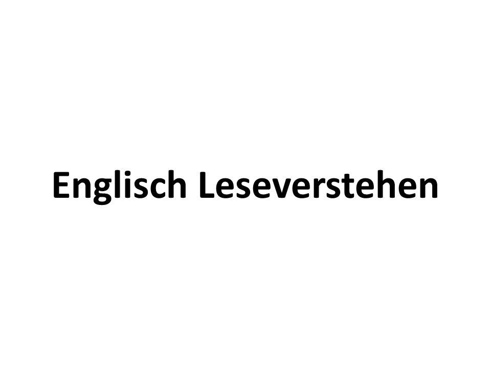 Englisch Leseverstehen