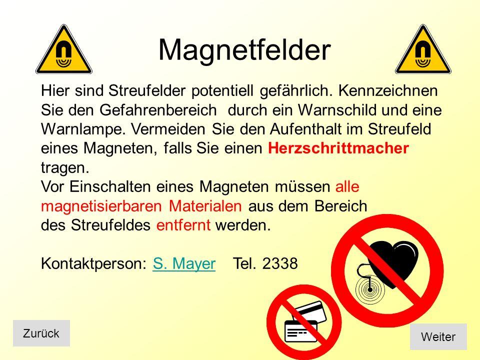 Kryogenie und flüssige Gase Weiter Zurück Tragen Sie die geeignete Schutzausrüstung: Schutzbrille, Handschuhe Vermeiden Sie Hautkontakt Achten Sie auf ihre Umgebung beim Abfüllen von Dewar Behältern Verwenden Sie kryogene Gase nicht in unbelüfteten Unterflurräumen