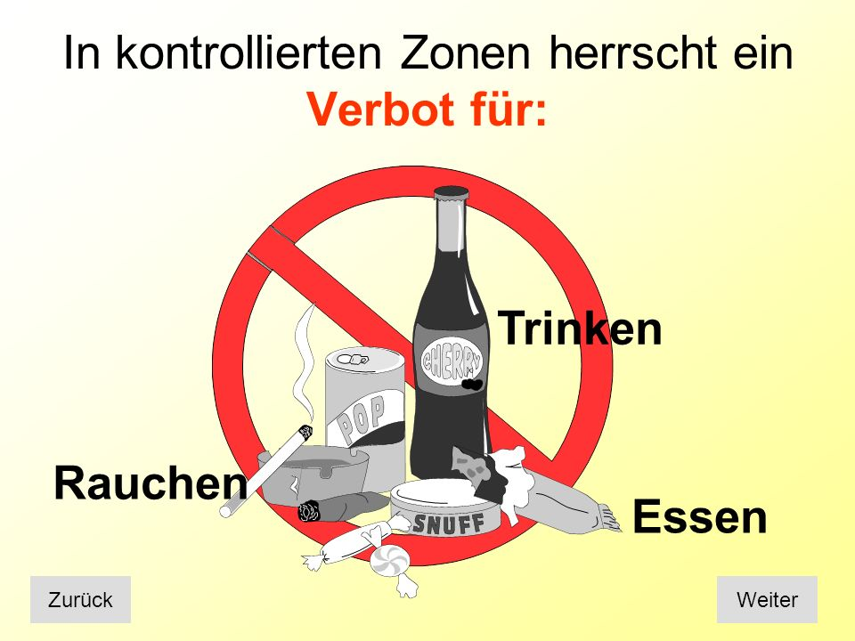 Abfälle Grundsätze: Wenig Abfälle produzieren INAKTIVAKTIVEntstandene Abfälle trennen (INAKTIV / AKTIV) WeiterZurück