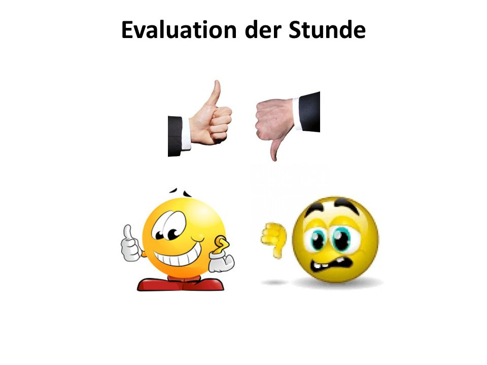 Evaluation der Stunde