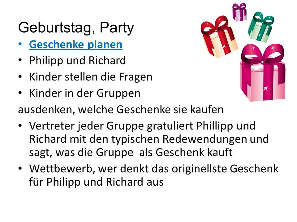 Geburtstag, Party Elfchen- Gedicht schreiben, Lehrbuch Seite 73.