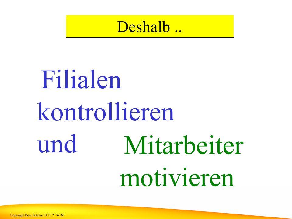 Copyright Peter Schober 0172 75 74 163 Gewinn kann ein Metzger nur machen wenn..... die Mitarbeiter in den Filialen die Wurstwaren verkaufen und nicht