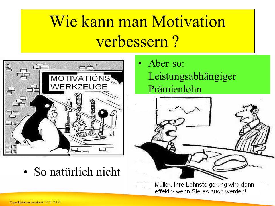 Copyright Peter Schober 0172 75 74 163 Deshalb.. Filialen kontrollieren und Mitarbeiter motivieren