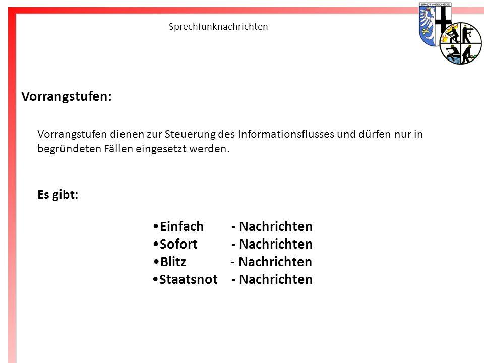 Freiwillige Feuerwehr Meschede Sprechfunknachrichten Einfach - Nachrichten : erhalten keinen Vermerk.