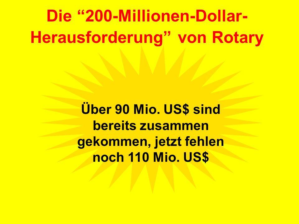 Über 90 Mio. US$ sind bereits zusammen gekommen, jetzt fehlen noch 110 Mio. US$