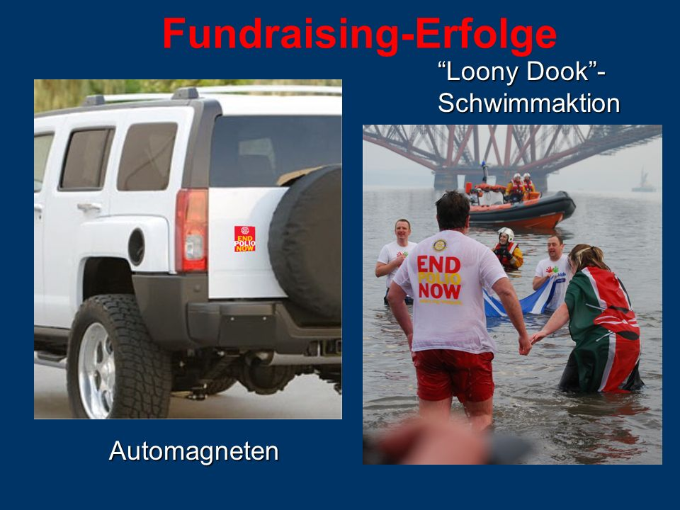 Fundraising-ErfolgeAutomagneten Loony Dook- Schwimmaktion