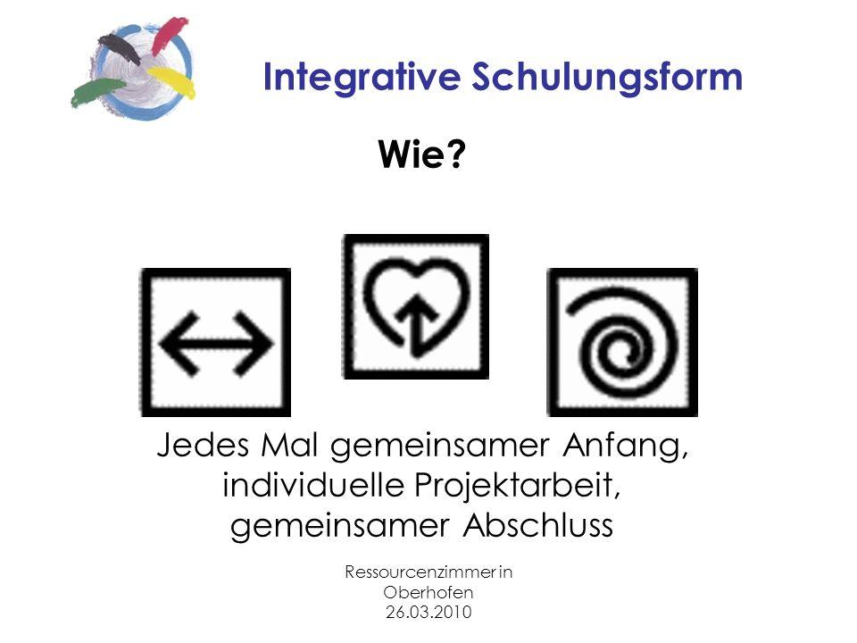 Ressourcenzimmer in Oberhofen 26.03.2010 Integrative Schulungsform Wie.