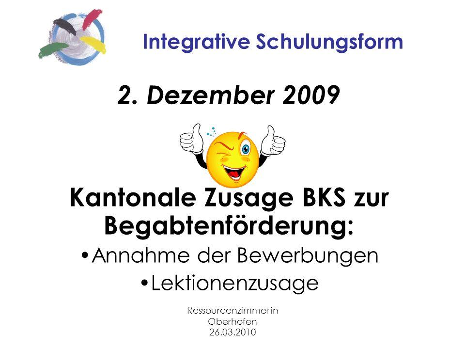 Ressourcenzimmer in Oberhofen 26.03.2010 Integrative Schulungsform 2.