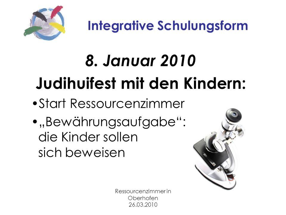 Ressourcenzimmer in Oberhofen 26.03.2010 Integrative Schulungsform 8.