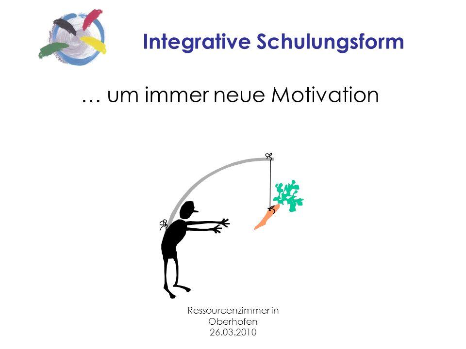 Ressourcenzimmer in Oberhofen 26.03.2010 Integrative Schulungsform … um immer neue Motivation