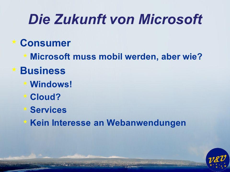 Die Zukunft von Microsoft * Consumer * Microsoft muss mobil werden, aber wie.