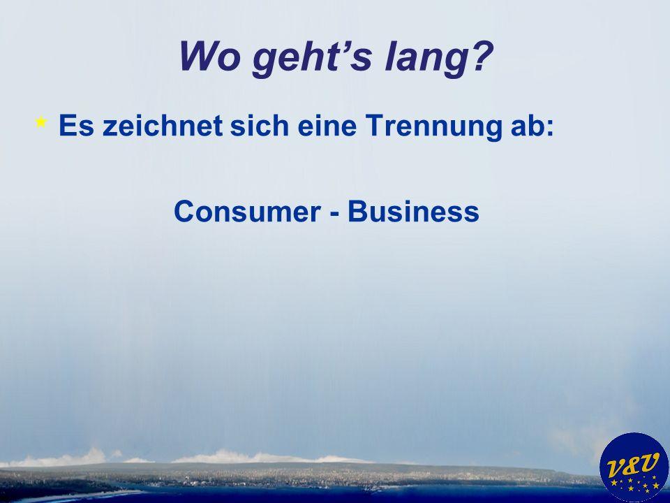 * Es zeichnet sich eine Trennung ab: Consumer - Business