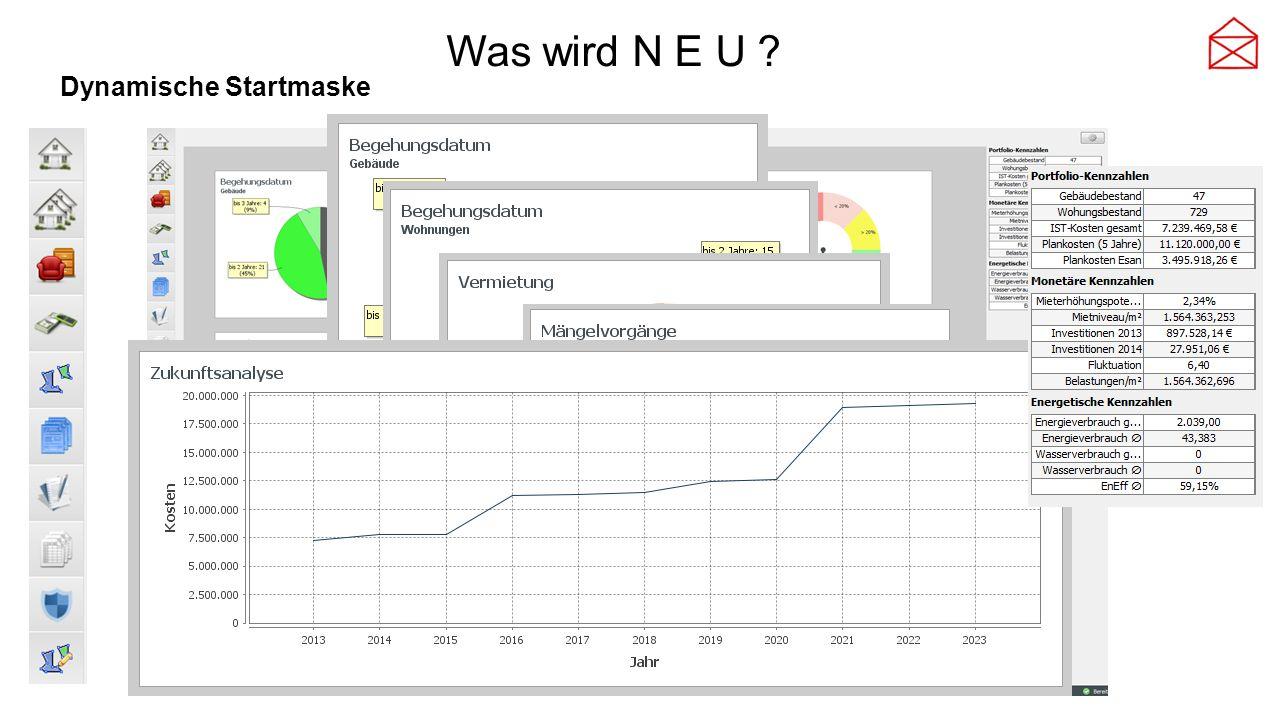 Was wird N E U ? Dynamische Startmaske