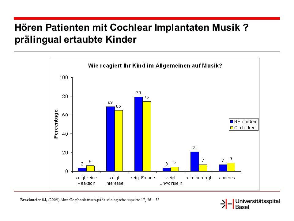 Hören Patienten mit Cochlear Implantaten Musik .