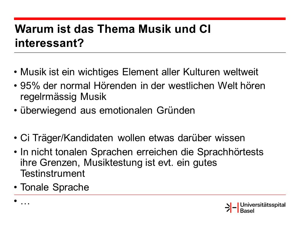 Warum ist das Thema Musik und CI interessant.