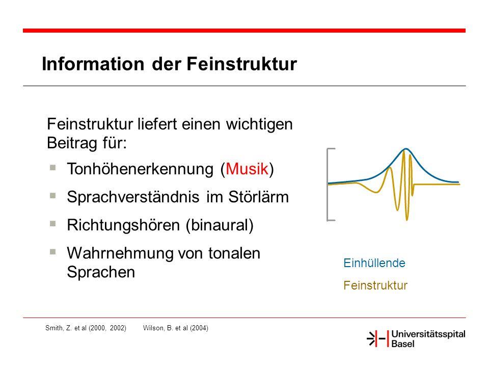 Information der Feinstruktur Smith, Z.et al (2000, 2002)Wilson, B.