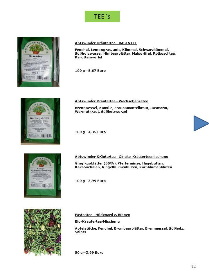 12 Abtswinder KräuterteeBASENTEE Fenchel, Lemongras, anis, Kümmel, Schwarzkümmel, Süßholzwurzel, Himbeerblätter, Maisgriffel, Rotbuschtee, Karottenwür