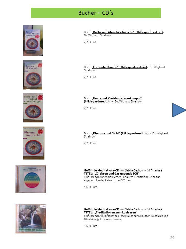 29 Buch: Krebs und Abwehrschwäche (Hildegardmedizin)v. Dr. Wighard Strehlow 7,70 Euro Bücher – CD´s Buch: Frauenheilkunde (Hildegardmedizin)v. Dr. Wig