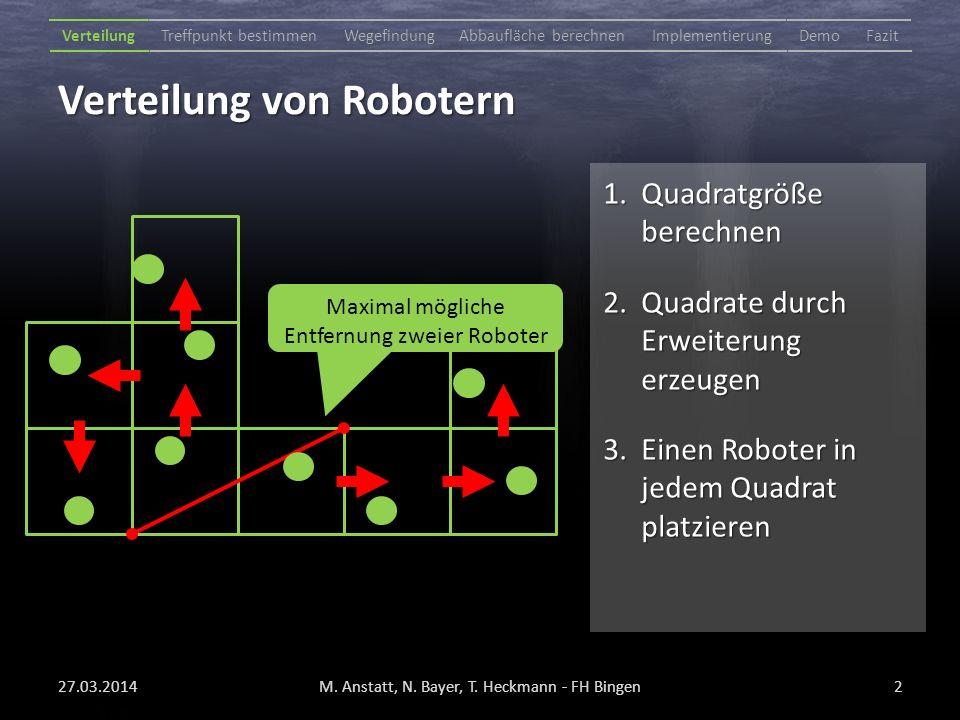 Verteilung von Robotern 27.03.2014M. Anstatt, N. Bayer, T.