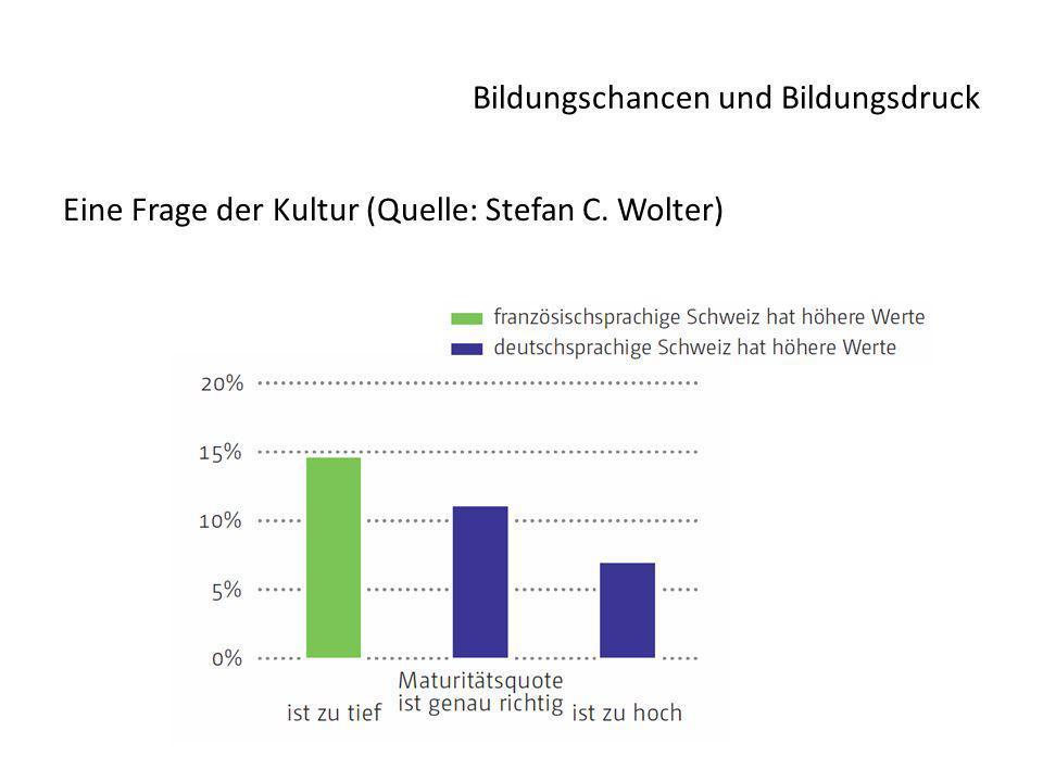 Bildungschancen und Bildungsdruck Eine Frage der Kultur (Quelle: Stefan C. Wolter)