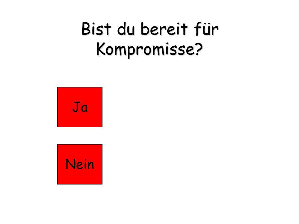 Bist du bereit für Kompromisse? JaNein
