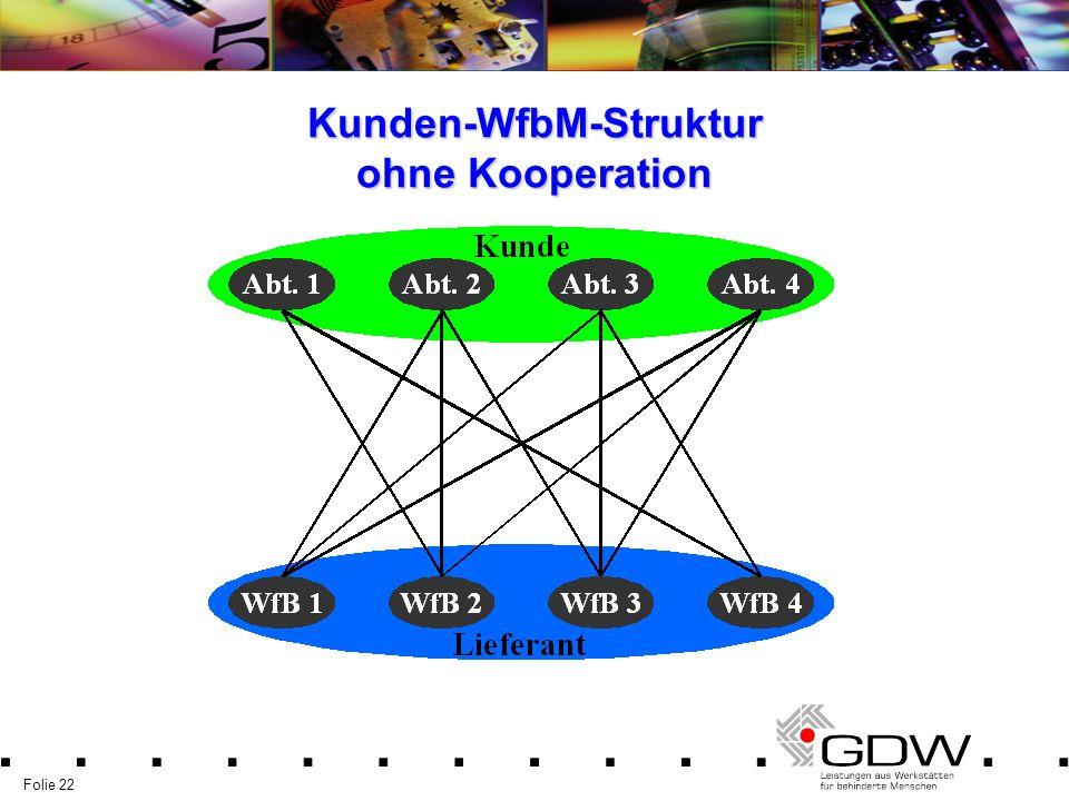 Folie 22 Kunden-WfbM-Struktur ohne Kooperation