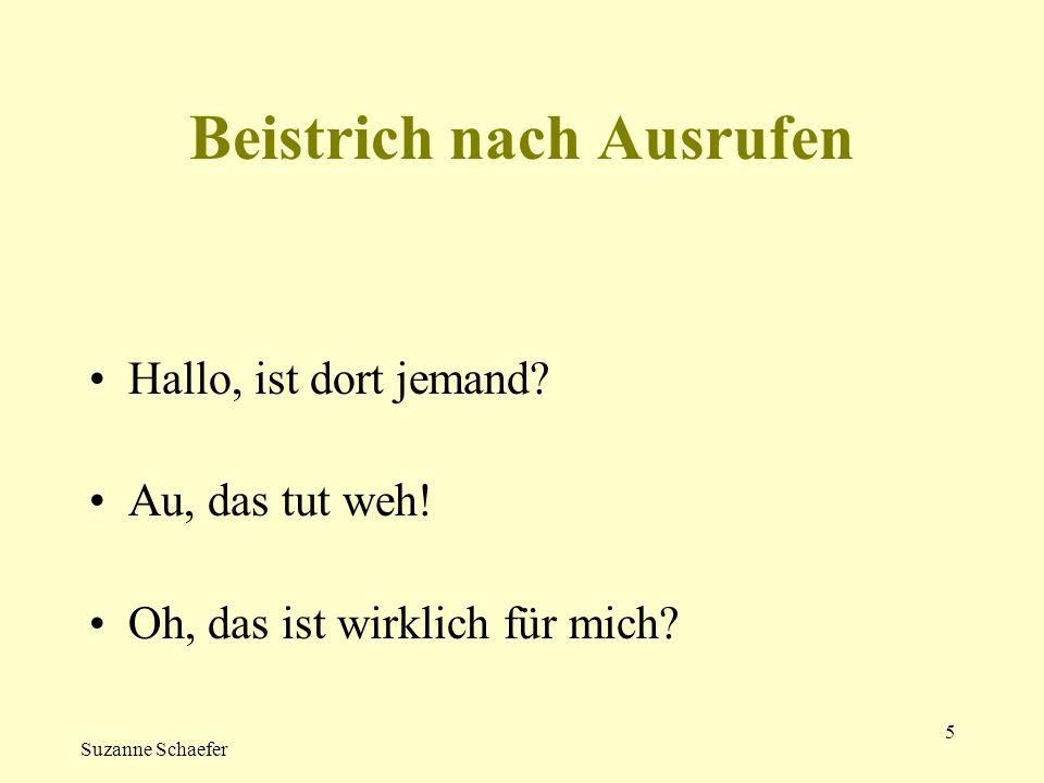 Suzanne Schaefer 6 Interpunktion in Briefen Sehr geehrter Herr Witz.