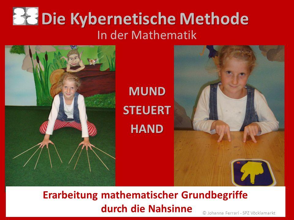 Die Kybernetische Methode In der MathematikMUNDSTEUERTHAND Erarbeitung mathematischer Grundbegriffe durch die Nahsinne © Johanna Ferrari - SPZ Vöcklam