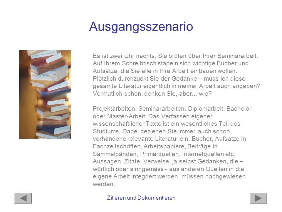 Zitieren und Dokumentieren Selbständige und unselbständige Literatur Es gibt unterschiedliche Arten von Literatur: Bücher, Sammelbände, Zeitschriftenartikel, Internetquellen...