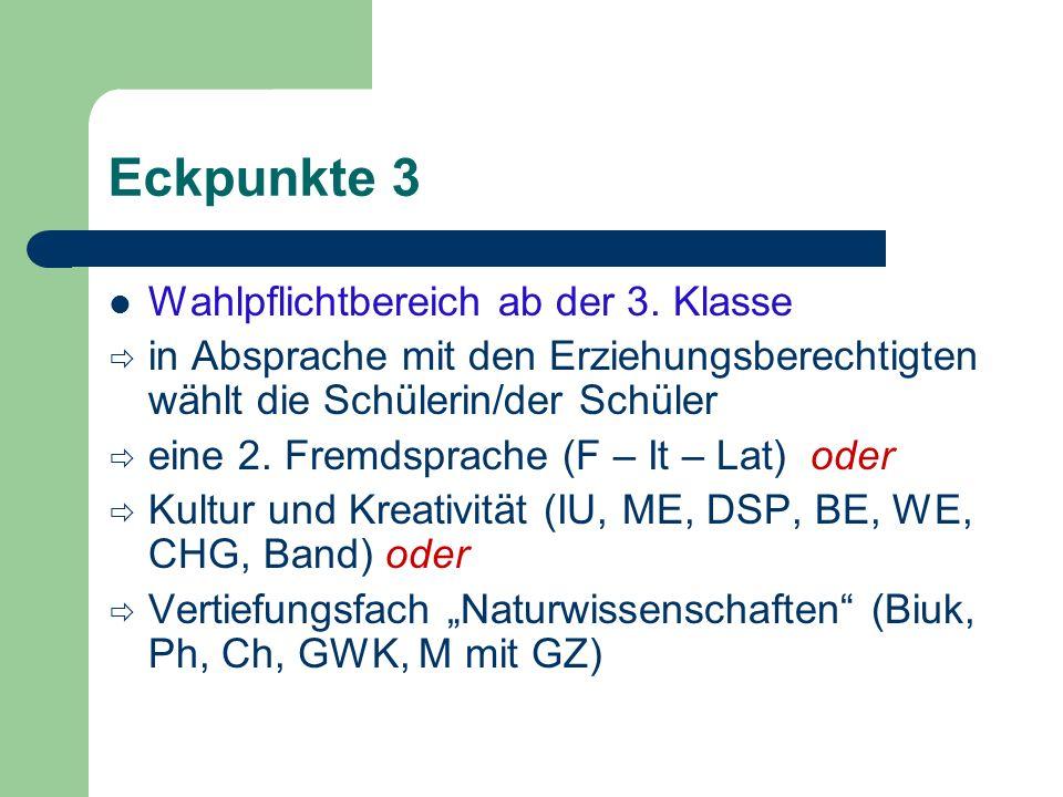 Eckpunkte 3 Wahlpflichtbereich ab der 3.