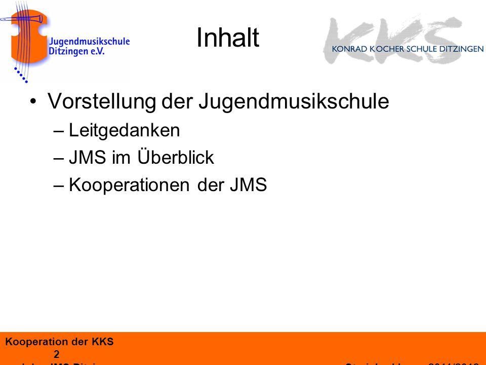 Kooperation der KKS 13 und der JMS Ditzingen Streicherklasse 2011/2012 Beteiligte Lehrer(innen) = echte Profis.