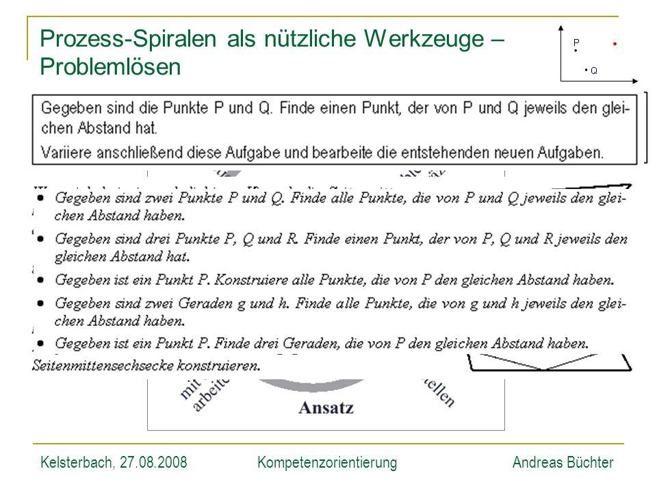 Kelsterbach, 27.08.2008KompetenzorientierungAndreas Büchter Prozess-Spiralen als nützliche Werkzeuge – Problemlösen