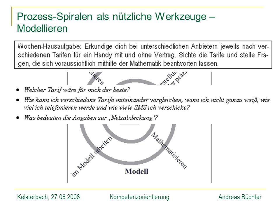 Kelsterbach, 27.08.2008KompetenzorientierungAndreas Büchter Prozess-Spiralen als nützliche Werkzeuge – Modellieren