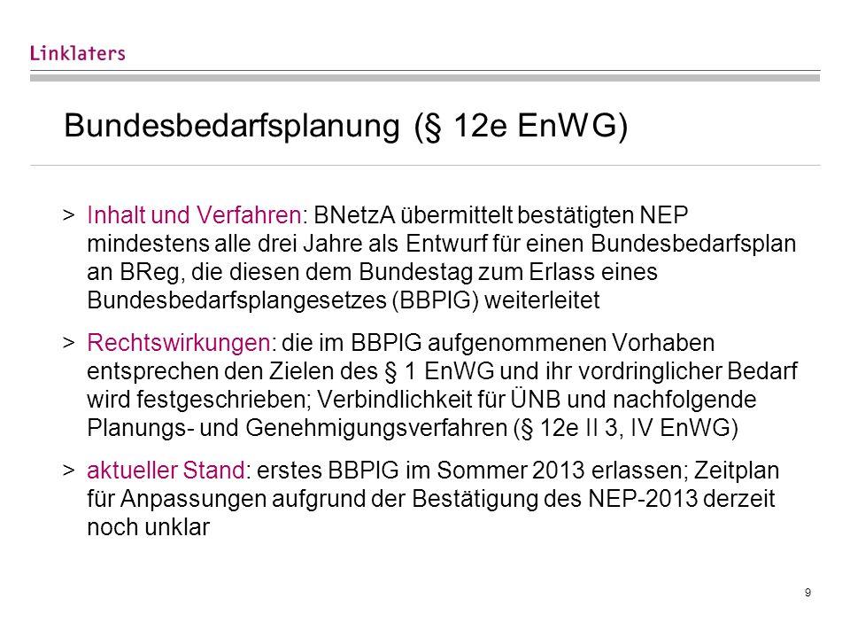 9 Bundesbedarfsplanung (§ 12e EnWG) >Inhalt und Verfahren: BNetzA übermittelt bestätigten NEP mindestens alle drei Jahre als Entwurf für einen Bundesb
