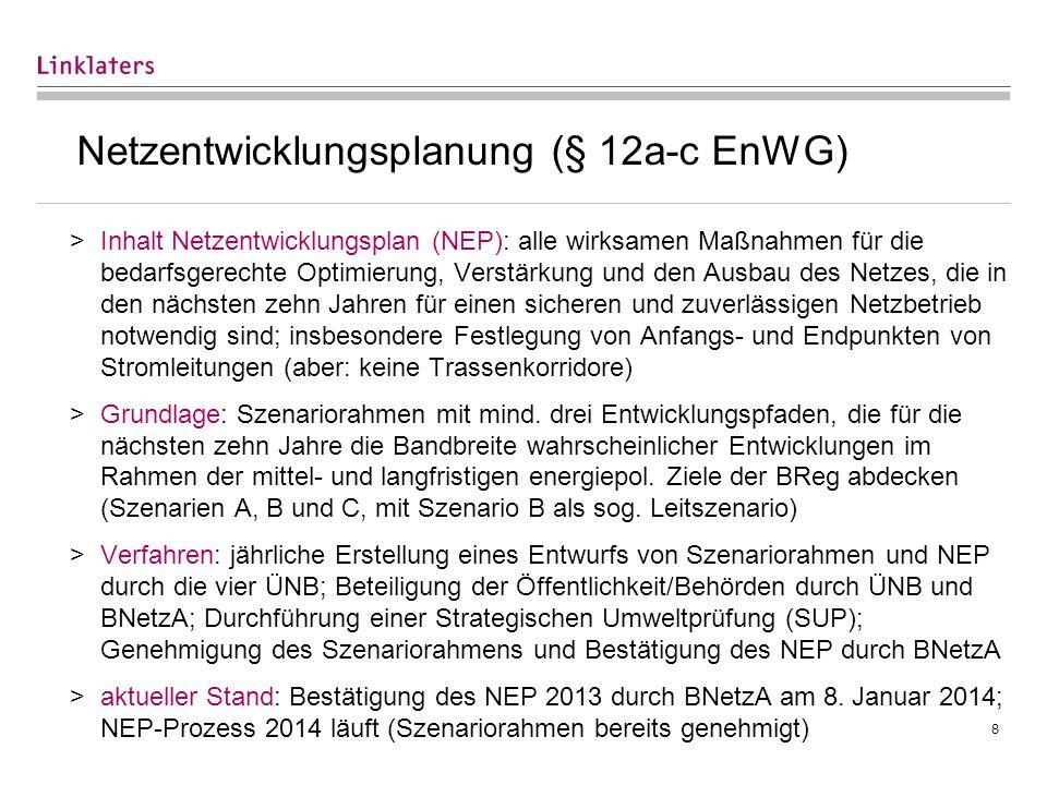 8 Netzentwicklungsplanung (§ 12a-c EnWG) >Inhalt Netzentwicklungsplan (NEP): alle wirksamen Maßnahmen für die bedarfsgerechte Optimierung, Verstärkung
