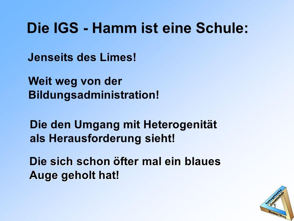 Die IGS - Hamm ist eine Schule: 1 Jenseits des Limes.