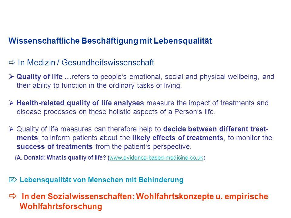Quality of Persons als Voraussetzung von Lebensqualität (Robert E.