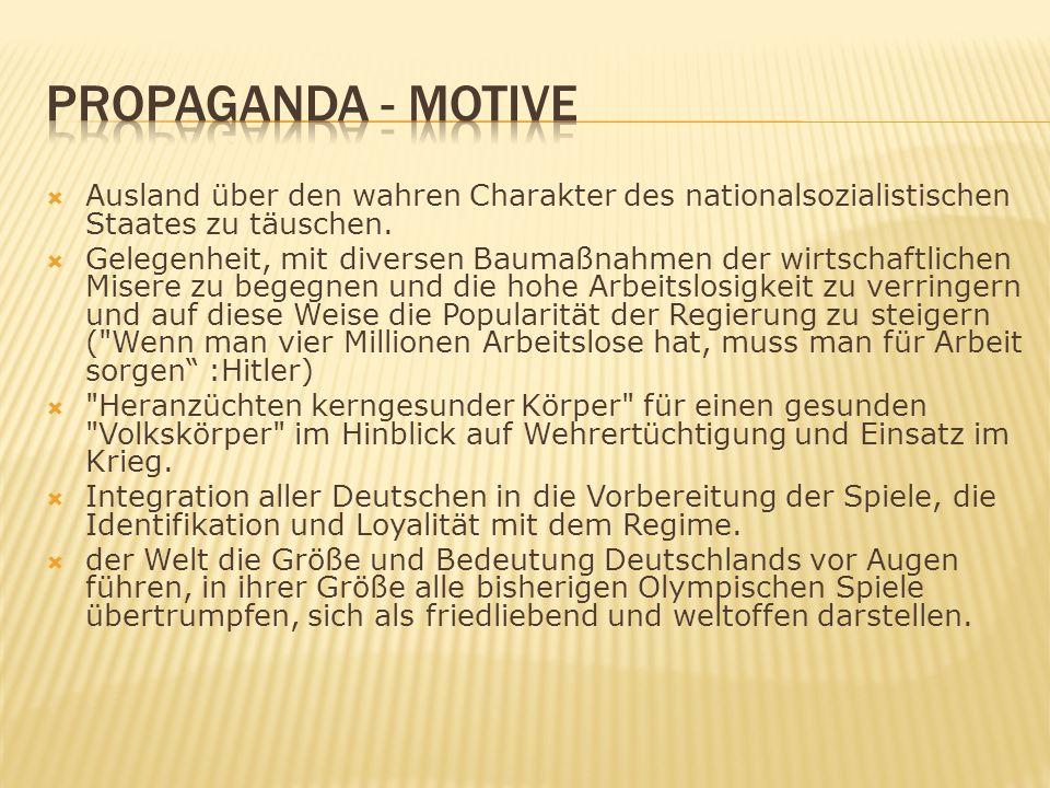 Ausland über den wahren Charakter des nationalsozialistischen Staates zu täuschen.