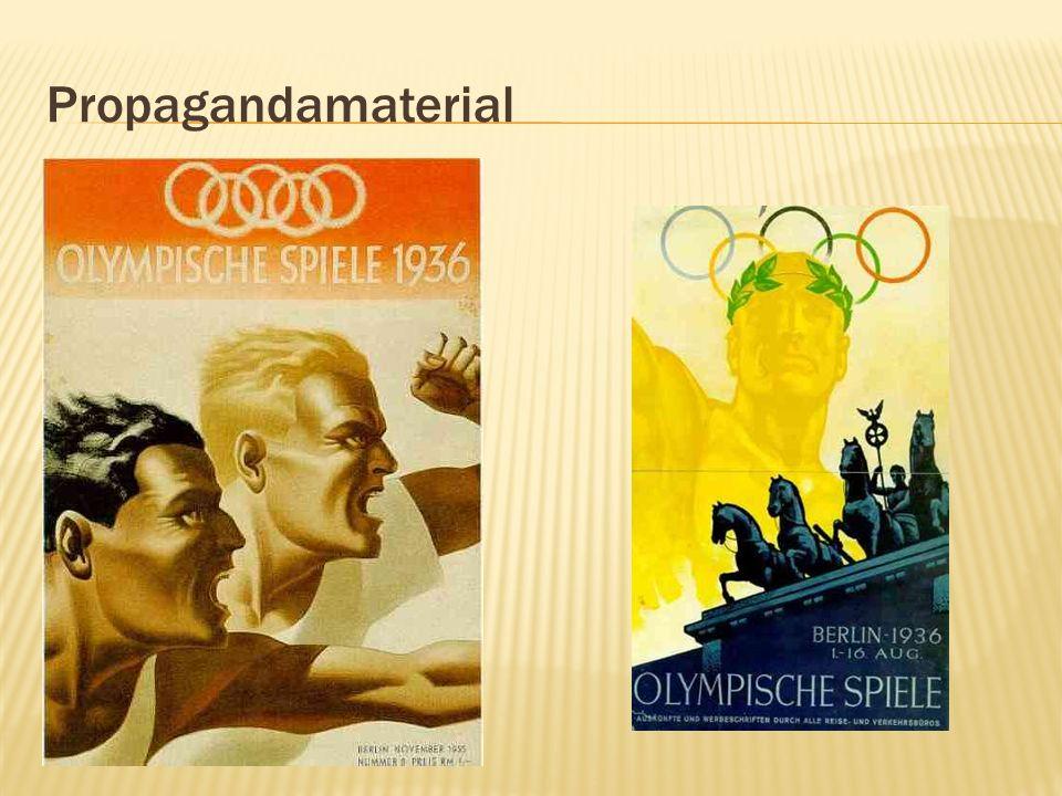 Deutsche wurden in gewünschter Richtung auf die Olympischen Spiele vorbereitet und für das Dritte Reich mobilisiert ( Olympia - eine nationale Aufgabe , Propagandaminister Joseph Goebbels.) Deutsche olympische Schulung .