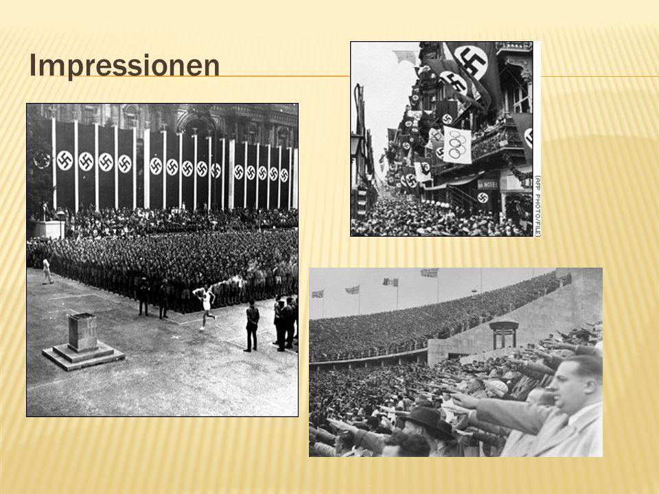 Die Verlogenheit des Systems offenbart sich in der skrupellosen Art, mit der die Nazis vor den Gästen die wahren Zustände in Deutschland verbrämten.