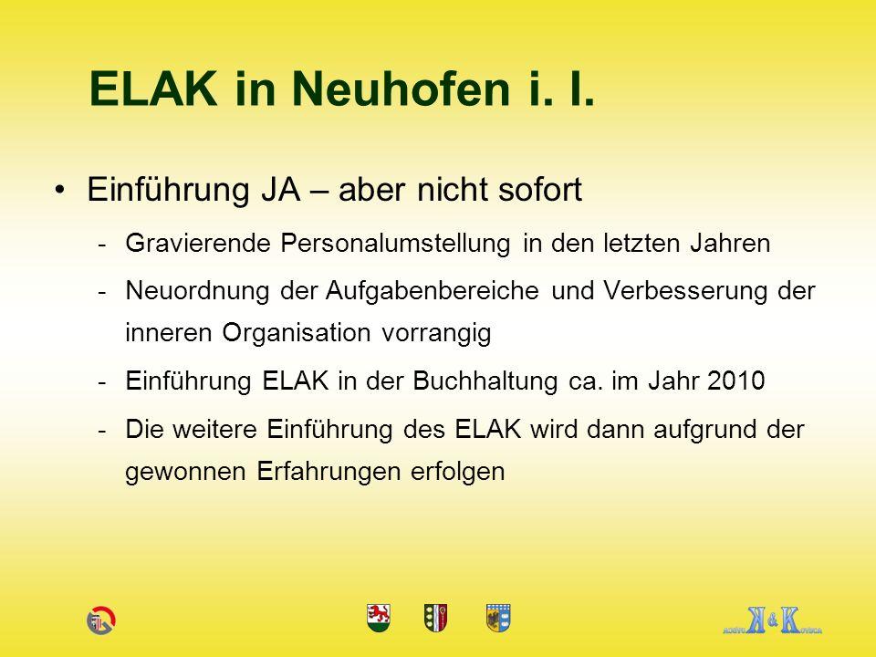 Einführung JA – aber nicht sofort -Gravierende Personalumstellung in den letzten Jahren -Neuordnung der Aufgabenbereiche und Verbesserung der inneren Organisation vorrangig -Einführung ELAK in der Buchhaltung ca.