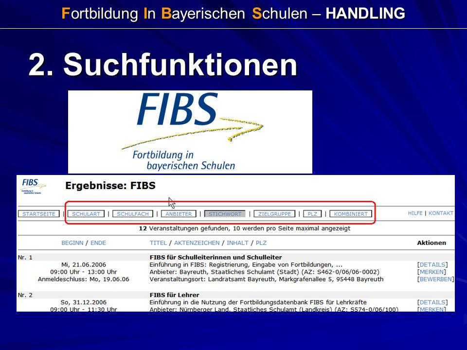 Fortbildung In Bayerischen Schulen – HANDLING 2. Suchfunktionen